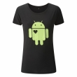 Android Ladies Heart Bamboo Tee